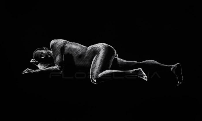 drawing of man laying down